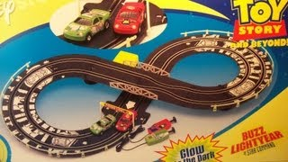 DISNEY TOY STORY ELECTRIC SLOT CAR RACE TRACK WITH BUZZ LIGHTYEAR vs EMPEROR ZURG