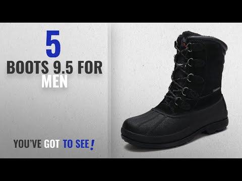 Top 10 Boots 9.5 [ Winter 2018 ]: arctiv8 Men's nortiv8 170390-M Black Insulated Waterproof Work