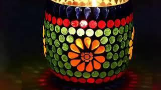 Decorative Glass Light Diya Collection||Beautiful Diwali Glass Diya||