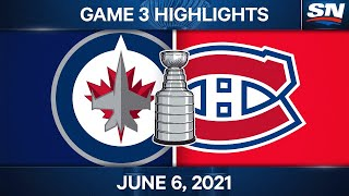 NHL Game Highlights   Jets vs. Canadiens, Game 3 - June 6, 2021