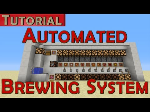 Minecraft Tutorial Automated Potion Brewing System Youtube