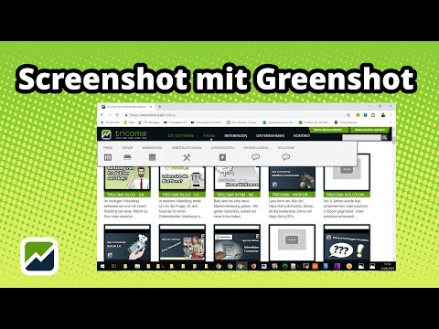 tricoma - Screenshot mit Greenshot
