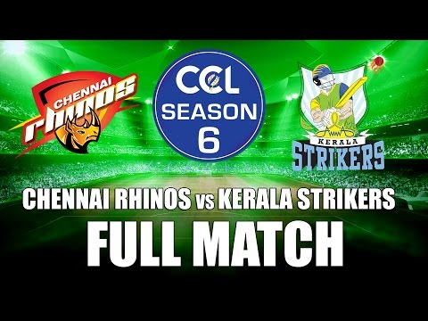 Celebrity Cricket League(CCL 6) - Chennai Rhinos VS Kerala Strikers - Full Match