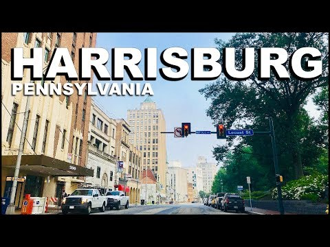 Harrisburg Pennsylvania Downtown Driving Tour