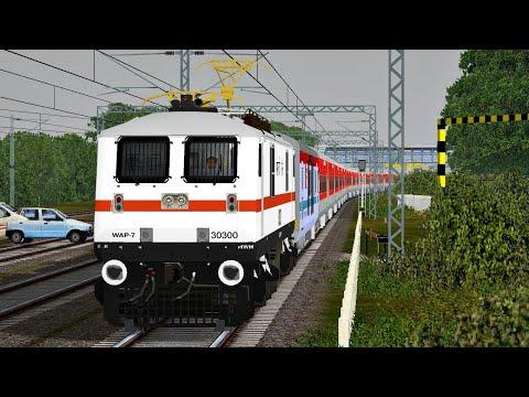 New Delhi - Howrah Kolkata Rajdhani Express | MSTS Open Rails Journey Part 1