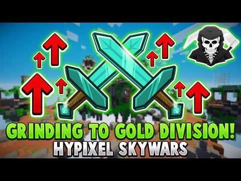 GRINDING TO GOLD DIVISION! ( Hypixel Skywars )