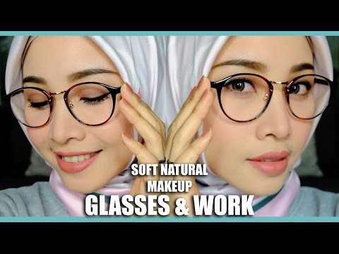 SOFT NATURAL MAKEUP FOR GLASSES & OFFICE OR INTERVIEW