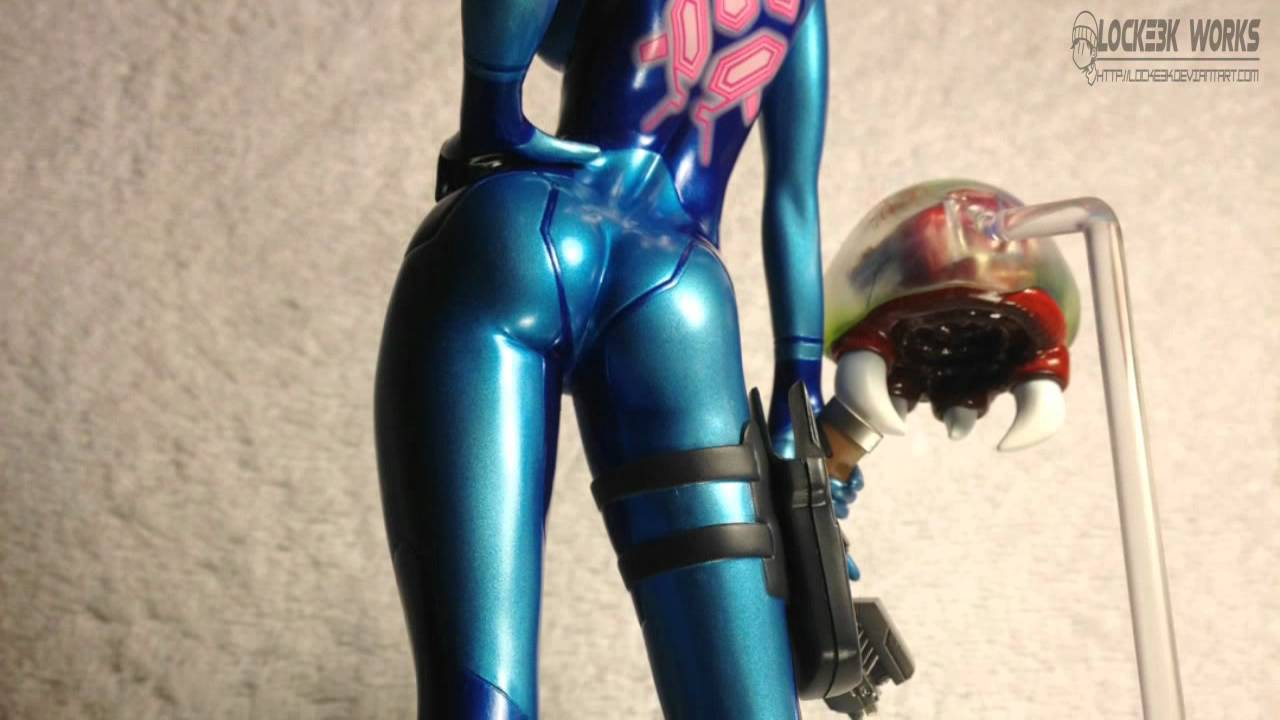 metroid other m - zero suit samus figure (max factory) - youtube