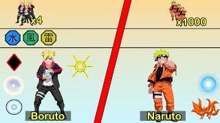 Boruto Uzumaki vs Naruto Uzumaki | うずまきボルト VS うずまきナルト