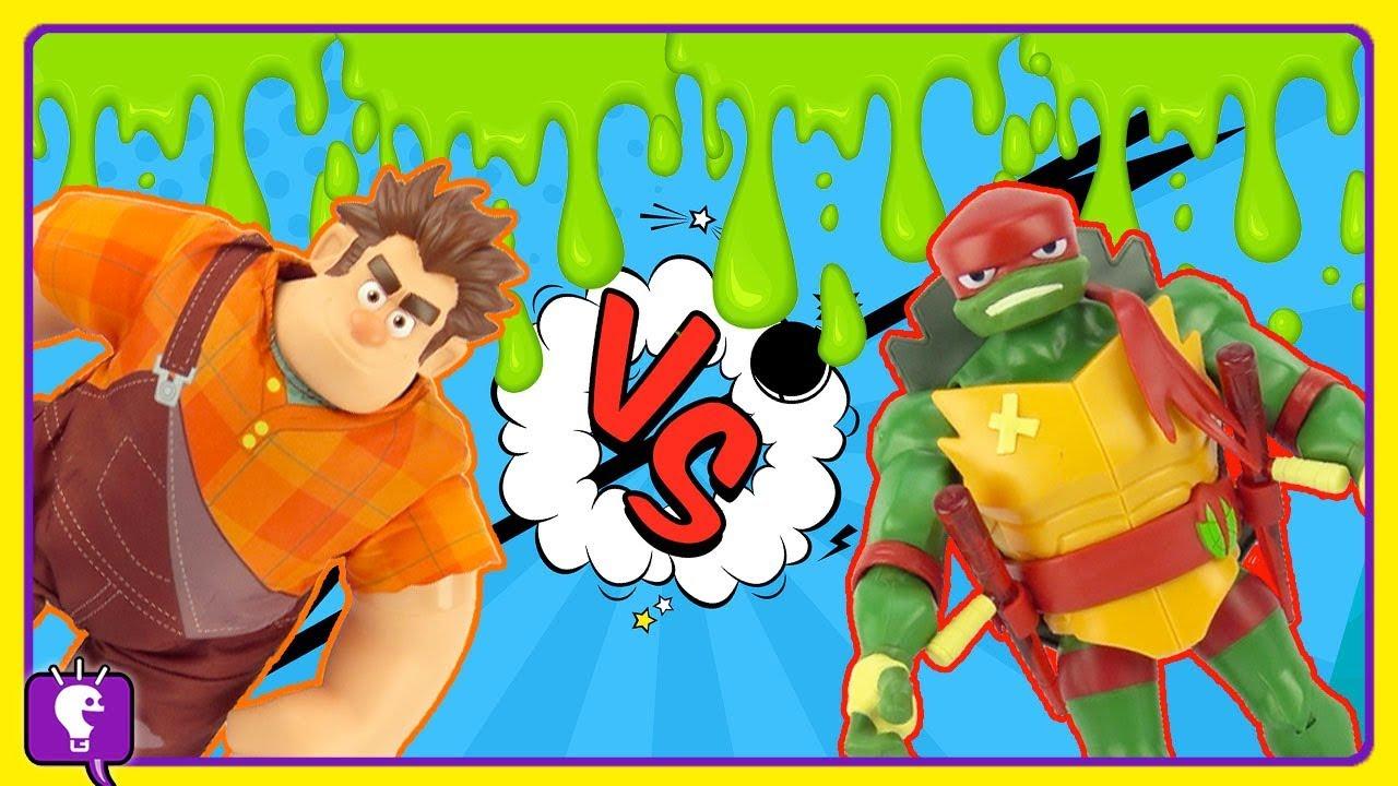 TMNT Helps Wreck it Ralph From Slime by HobbyKidsTV