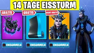 How to GET the FREE Ice Queen Glider | Fortnite Ice Storm Challenge German