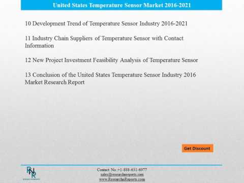 United States Temperature Sensor Reports Analysis to 2021 and Analysis