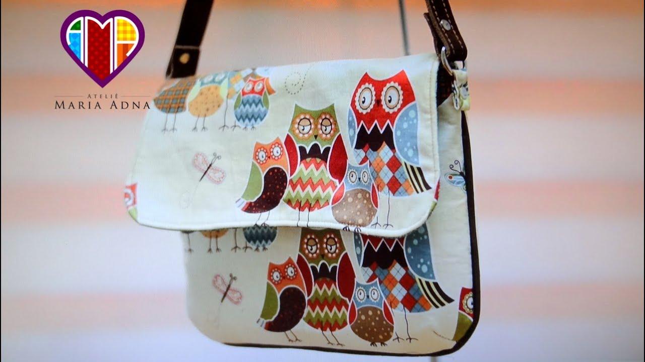 Muitas vezes Vídeo de bolsa de tecido Glaucia. DIY. Fabric bag. How do sew a  GW73