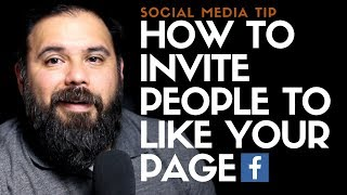 How to invite people to like your page