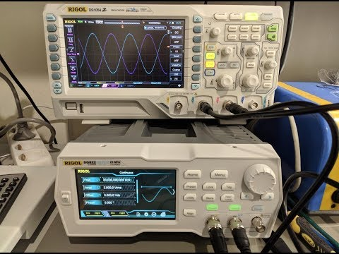 Rigol DG822 Arbitrary Waveform Generator Unboxing & Brief Demo