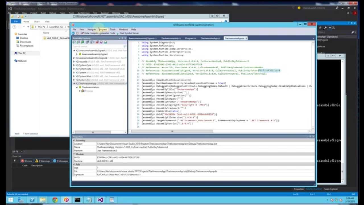 NET GAC - Side by Side Version, GacUtil, Search Order, Probing Demo