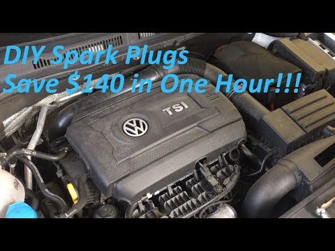 Volkswagen Jetta (A6) 1.8 TSI: DIY Spark Plugs SAVE $140 in 1 HOUR