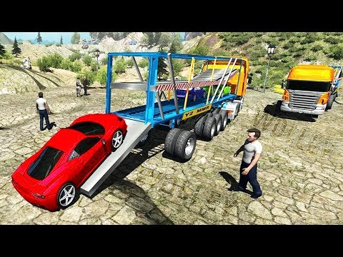 OffRoad Truck Car Transport - Android Gameplay HD - Sport Cars Transportator Simulator Game For Kids