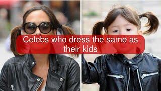 Celebs who dress the same as their kids