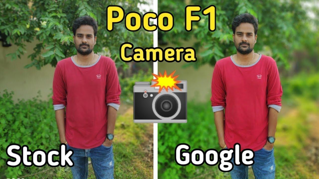 POCO F1 Google Camera Potrait Working🔥🔥 Stock Vs Gcam Camera Comparison  in telugu I tech24 I