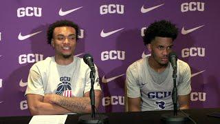 Post Game: Carlos Johnson & Mikey Dixon    GCU Basketball vs Chicago State Feb. 15, 2020