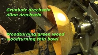 Vom Baum zur Schale - Grünholz drechseln - DIY - Holzweger