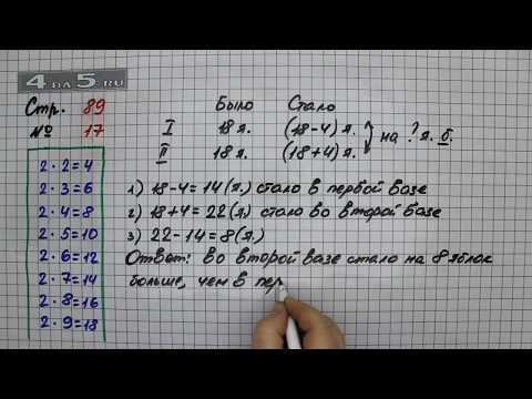 Страница 89 Задание 17 – Математика 2 класс Моро М.И. – Учебник Часть 2