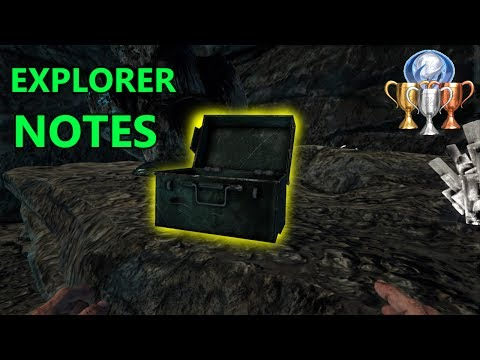 All 10 EXPLORER NOTES TROPHIES - ARK: Survival Evolved