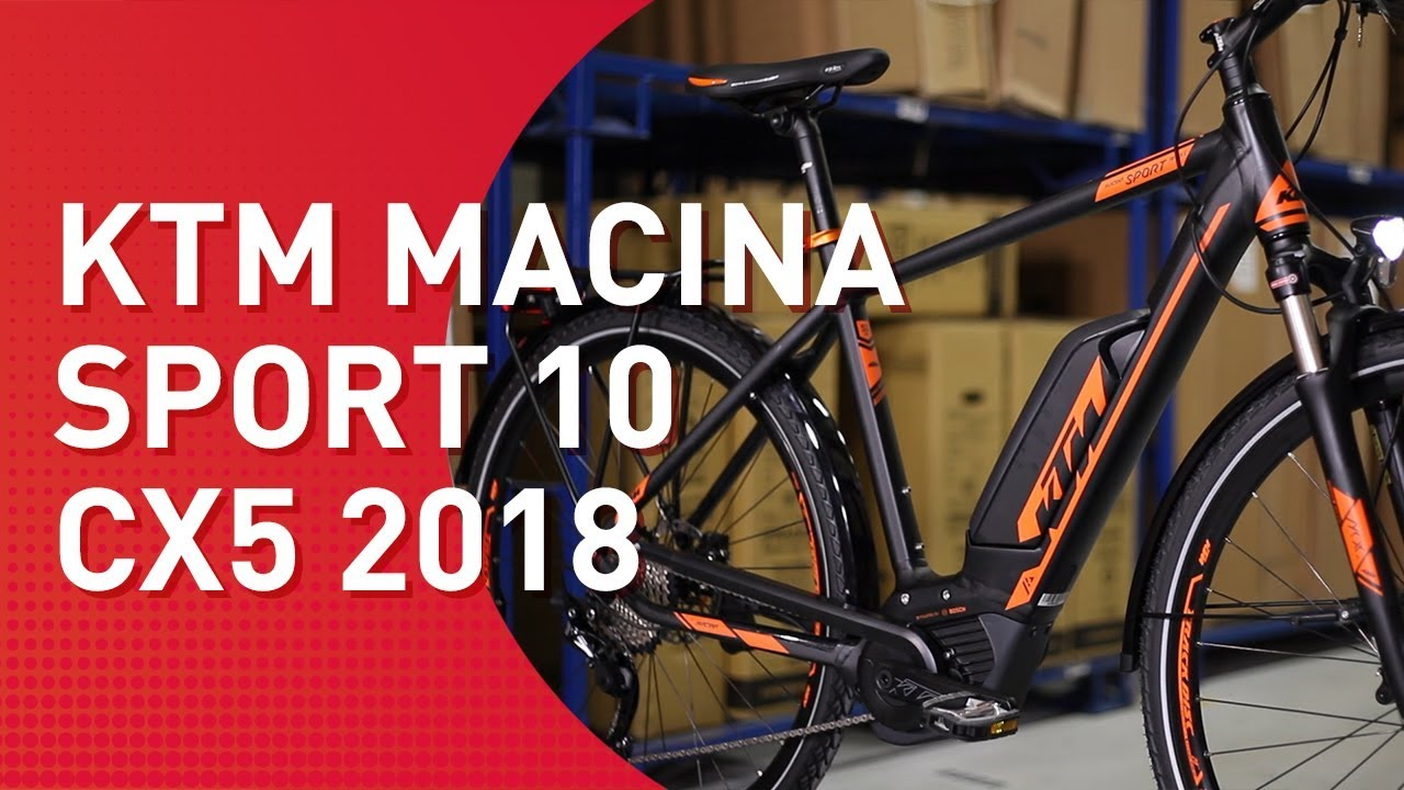 ktm macina sport 10 cx5 2018 trekking e bike youtube. Black Bedroom Furniture Sets. Home Design Ideas