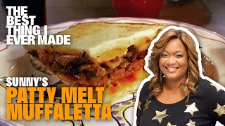 Patty Melt Muffaletta | The Best Burger Sunny Anderson's Ever Made