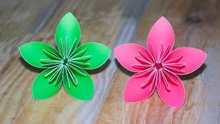 Easy Crafting Ideas how to make Paper Flowers | Flower Making | Paper crafts | 5-Minute Crafts