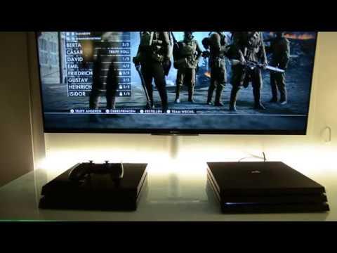 ps4 pro fan vs ps4 fan battlefield 1 youtube. Black Bedroom Furniture Sets. Home Design Ideas