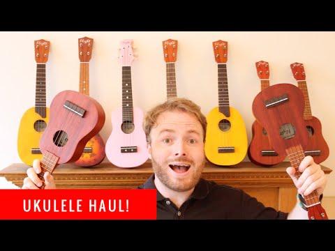 UKULELE HAUL AND UNBOXING - WIN MY UKE!