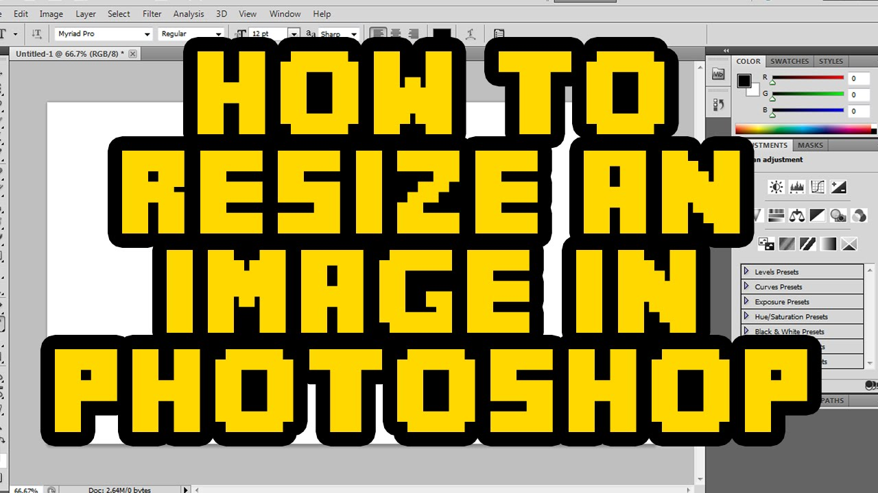 How To Resize An Image In Photoshop CS6 2016 - Resize Layer ...
