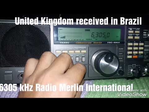 6305 kHz Radio Merlin International (United Kingdom received in Brazil)