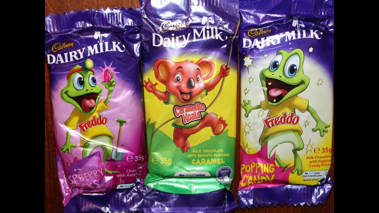 australian cadbury dairy milk freddo raspberry rocks