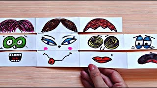 FACE CHANGER - PAPER GAME FOR KIDS | Paper crafts for kids