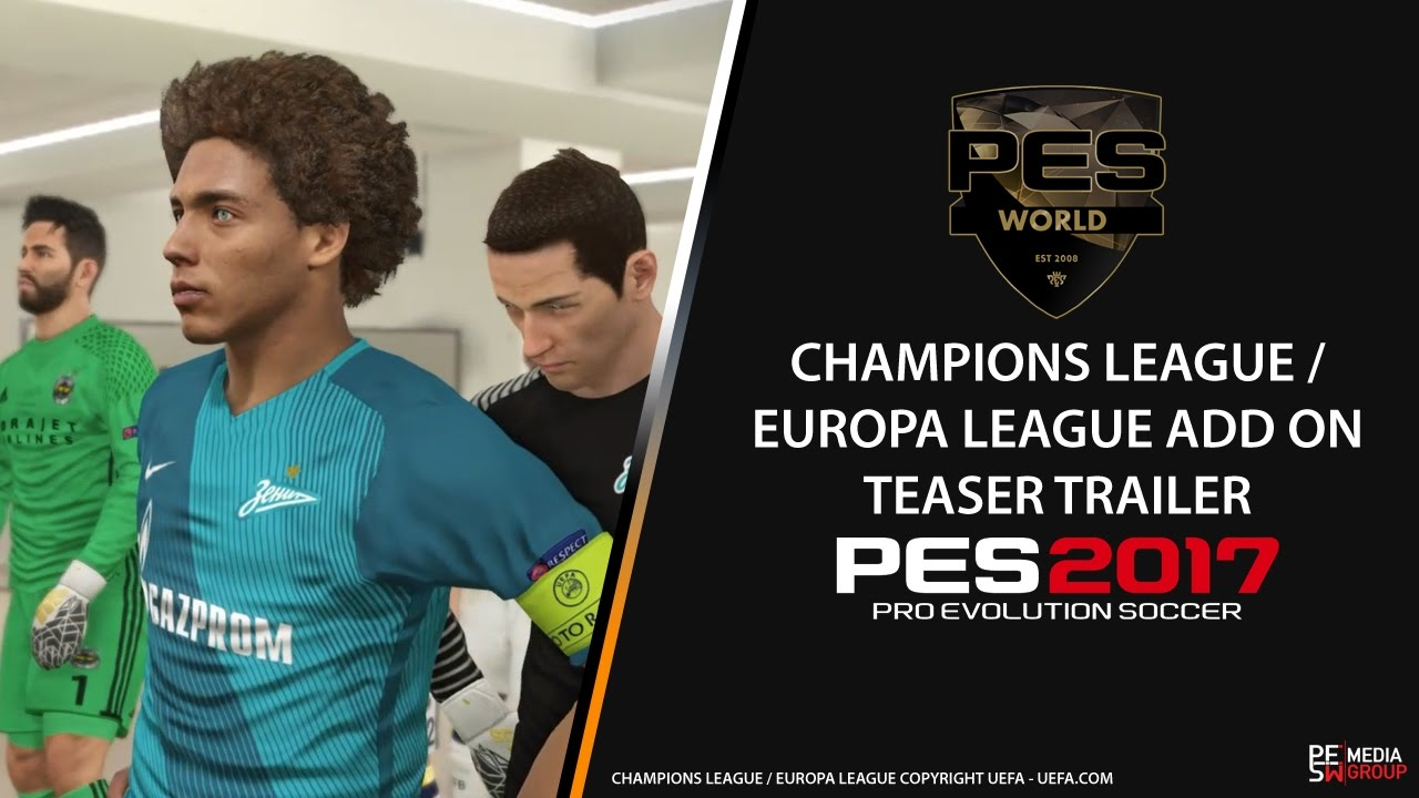 PES World PES 2016 Champions / Europa league add on teaser trailer