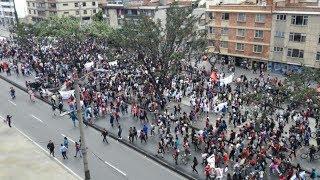 Así avanzan las marchas de los estudiantes por las vías del país