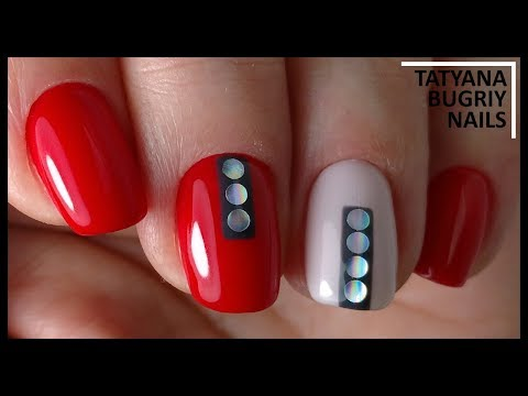 Gel lacquer in ONE Layer! Hardware manicure / SIMPLE Design of Stylish Nails