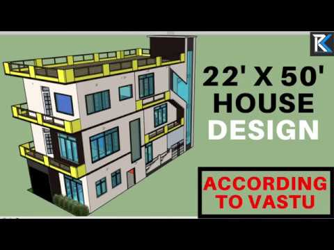 22 X 50 Best House Design 3 Storied Building According To Vastu Rk Survey
