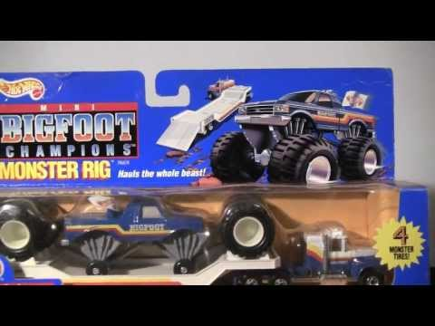 hot wheels mini bigfoot champions monster rig toy review. Black Bedroom Furniture Sets. Home Design Ideas