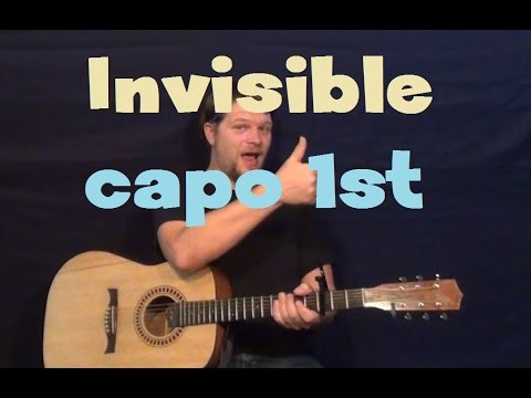 Invisible Hunter Hayes Easy Strum Guitar Lesson How To Play