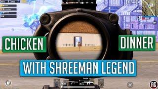 Chicken Dinner With Shreeman Legend [Custom Server] #Highlights PUBG Mobile
