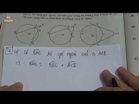 [ Hình 9 ] Chương 3 Bài 5 Góc có đỉnh bên trong đường tròn. Góc có đỉnh bên ngoài đường tròn (SGK)