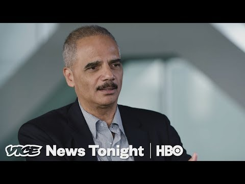 """Eric Holder On The Bomb Threats: """"It Is A Sign Of The Times."""" (HBO)"""