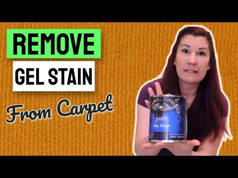 How to Remove Gel Stain from Carpet