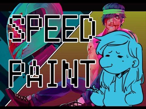 Hotline Miami SpeedPaint + Tiny Animations