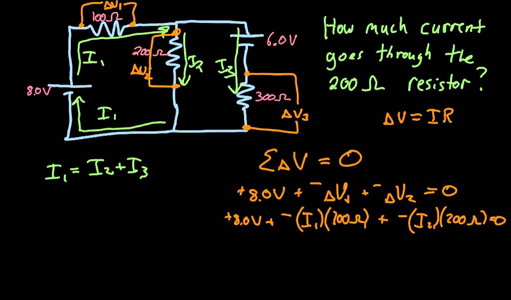 Circuit example with multiple batteries - YouTube