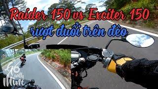 Raider 150 rượt đuổi Winner 150 - Exciter 150 - Fz150i trên đèo - Đà Lạt | MinC Motovlog
